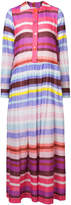 Michel Klein striped maxi shirt dress
