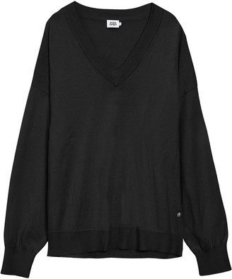 Twist & Tango - Lara Black V Neck Sweater - XS . | cotton | black - Black/Black