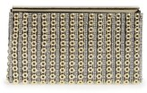 Sondra Roberts Crystal & Chain Clutch - Metallic