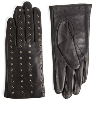 Claudie Pierlot Eyelet-Detail Leather Gloves