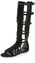 Alice + Olivia Paula Fringe Gladiator Sandals