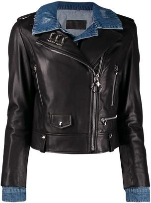 Philipp Plein Skull Biker Jacket