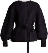 Sea Classic tie-waist purl-knit sweater