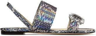 Jimmy Choo Saphera snakeskin-effect sandals