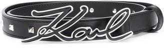 Karl Lagerfeld Paris K/Signature Studs belt