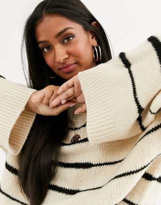 Vila stripe knitted jumper-Multi