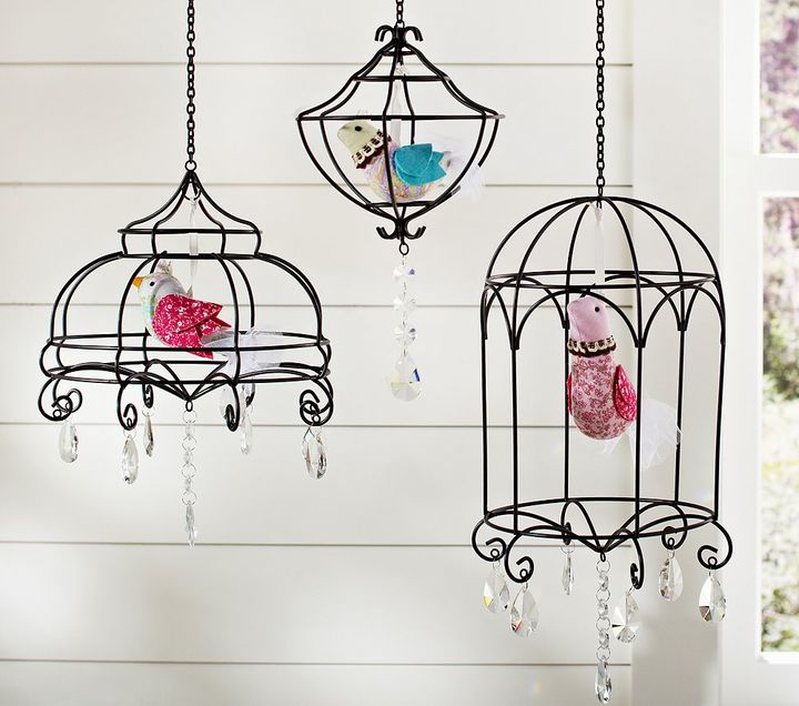 Pottery Barn Kids Wire & Crystal Bird Pendant