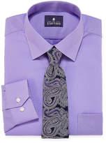 STAFFORD Stafford Travel Easy-Care Dress Shirt and Tie Set