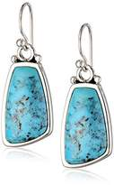 "Barse Basic"" Turquoise Oblong Rectangular Earrings"