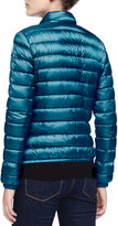 Moncler Zip-Up Puffer Jacket, Turquoise