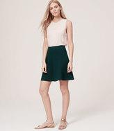 LOFT Ponte Flounce Skirt