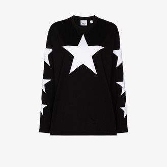 Burberry Creuse star print long sleeve t-shirt