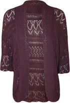 ZJ Clothes Plus Size Womens Crochet Knitted Shrug Cardigan Sweater Bolero Top