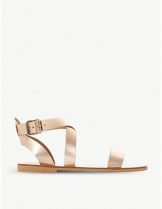 Dune Lottiie metallic leather sandals