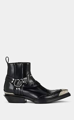 Balenciaga Men's Santiago Leather Boots - Black