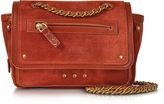 Jerome Dreyfuss Benji Rust Suede Crossbody bag