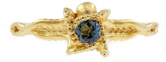 Lee Renee Octopus Blue Topaz Ring Gold