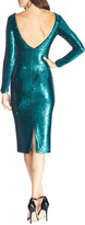 Thumbnail for your product : Dress the Population Emilia Sequin Long-Sleeve Ruched Dress