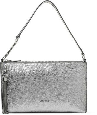Jimmy Choo Mini Metallic Leather Callie Hobo Bag