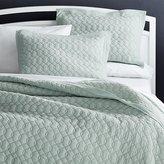 Crate & Barrel Elize Aqua Quilts and Pillow Shams