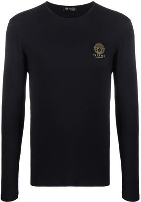 Versace logo-print long-sleeve T-shirt