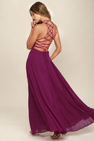 LuLu*s Strappy to be Here Magenta Maxi Dress