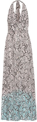 Heidi Klein Mombasa snake-effect halterneck dress