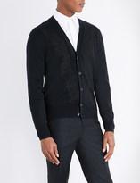 Alexander McQueen Embroidered wool cardigan