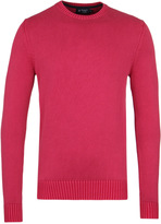 Hackett Gmd Washed Red Crew Neck Sweater