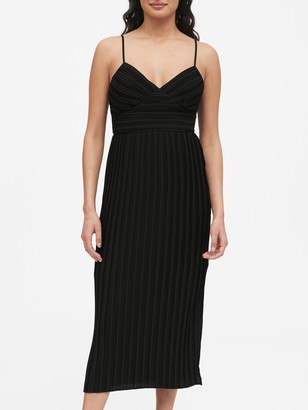 Banana Republic Petite Plisse Midi Dress