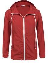 Meaneor Women's Waterproof Raincoat Outdoor Hooded Rain Jacket ( M)