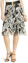 Lauren Ralph Lauren Petite Animal-Print A-Line Ruffled Skirt
