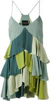 Erika Cavallini - ruffled cami top - women - Silk/Acetate - 42