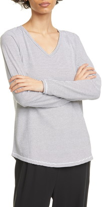 Eileen Fisher Organic Cotton V-Neck T-Shirt
