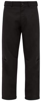 Comme des Garcons Darted-knee Twill Trousers - Mens - Black