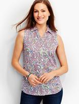 Talbots The Perfect Sleeveless Shirt-Paisley
