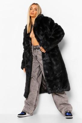 boohoo Longline Luxe Faux Fur Coat