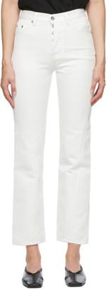 Bureau De Stil White Straight Jeans
