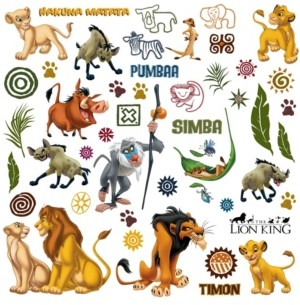 York Wall Coverings York Wallcoverings The Lion King Peel and Stick Wall Decals