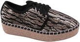 Black Sequin Pricilla Espadrille Sneaker