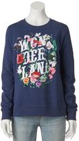 Disney Disney's Juniors' Alice in Wonderland Floral Graphic Sweatshirt