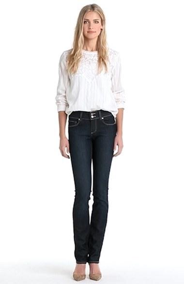 Paige 'Hidden Hills' Straight Leg Stretch Jeans (Fountain)