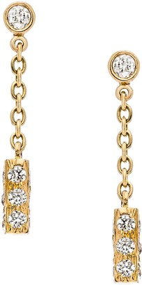 Sethi Couture Mini Diamond Bar Drop Earrings