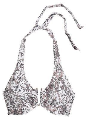Heidi Klein Zz Snake-print Halterneck Bikini Top