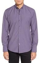 Zachary Prell Men's Trim Fit Check Sport Shirt
