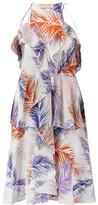 Emilio Pucci Ruffled Printed Silk Crepe De Chine Dress
