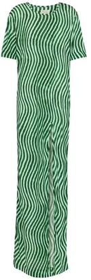 Dries Van Noten Printed jersey maxi dress