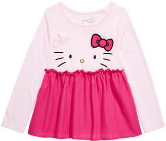 Hello Kitty Toddler Girls Peplum Top