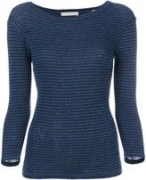 Vince heather stripe T-shirt - women - Cotton - XS