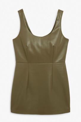 Monki Faux leather mini dress